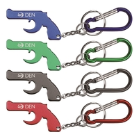 Gun Shape Bottle Opener Key Chain & Carabineer