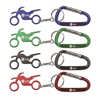 Motorbike Shape Bottle Opener Key Chain & Carabineer