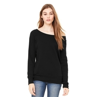 BELLA+CANVAS Women's Sponge Fleece Wide-Neck Sweatshirt.