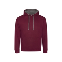 Adult 80/20 Midweight Varsity Contrast Hooded Sweatshirt