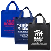 Large Imprint Grocery Shopping Tote Bag