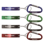 Jumbo Size Plain Bottle Opener w/ Key Chain & Carabiner