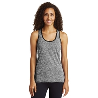 Sport-Tek Ladies PosiCharge Electric Heather Racerback Tank.