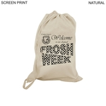 Cotton Laundry Bag, 18x28, Printed or Blank