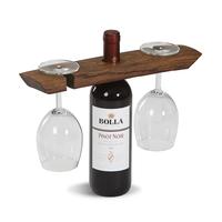 Wine Barrel Glass Caddy
