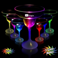 9 oz. Lighted LED Margarita Glass