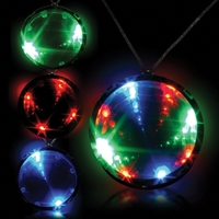 """2 3/4"""" Tri-Color Light Up LED Infinity Badge w/ Necklace"""