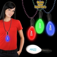 "7 1/2"" Light Up LED Maraca with attached j-hook medallion"