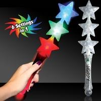 Triple Star LED Glow Light Up Wand