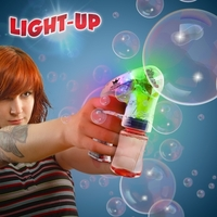 Automatic LED Lighted Glow Bubble Gun