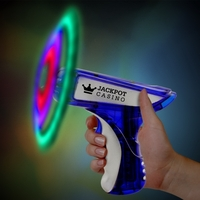 "6"" Blue/Silver LED Spinning Gun"