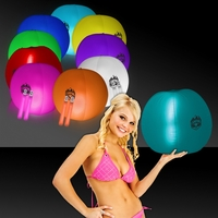 "24"" Translucent Inflatable Beach Ball with 2 Glow Sticks"