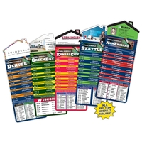 Magna-Card House Shape Magnet - Football Schedules (3.5x9)