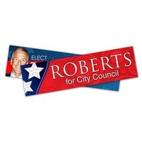 Political Campaign Bumper Sticker - UV-Coated Vinyl (11x3)