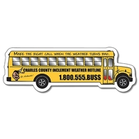 School Magnet - School Bus Shape (5.25x1.75) - 25 mil.