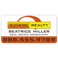 Real Estate Magnetic Car Signs - 24x12 Round Corners