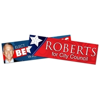 Political Campaign Bumper Sticker / Decal - UV-Coated Vinyl