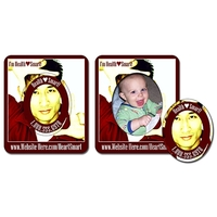 Picture Frame Magnet (3x3.5) - Oval Punch (1.8125x2.25) - 25