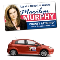 Political Magnetic Car/Truck/Auto/Vehicle Signs - 24x12 Roun