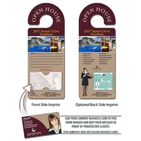 Real Estate Door Hanger - 4x10.5 Round Handle Door Hanger wi