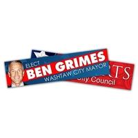 Political Campaign Bumper Sticker - UV-Coated Vinyl (10.5x2.