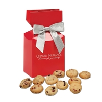 Bite-Sized Cranberry Shortbread Cookies in Red Gift Box