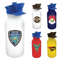 20 oz. Value Cycle Bottle with Police Hat Push 'n Pull Cap,