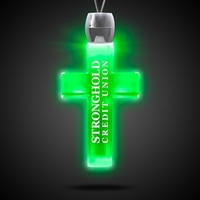 Cross Light-Up Acrylic Pendant Necklace