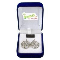 Swarovski Tree of Life Earrings