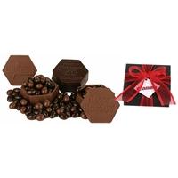 Molded Edible Milk Chocolate Box With Chocolate Almonds