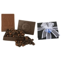Molded Edible Milk Choc Box with Chocolate Almonds