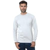 Bayside Unisex Union-Made Long-Sleeve Pocket Crew T-Shirt