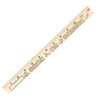 "Back-to-School ""U"" Color Rulers - Natural wood finish"