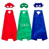 Birthday Party Holiday Super Hero Cape with Mask for Childre