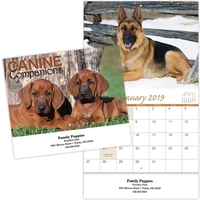 Kingswood Stitched Canine Companions Wall Calendar