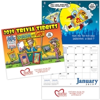Kingswood Collection Trivia Tidbits Stitched Wall Calendar