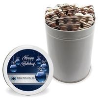 NEW Mini Chocolate Covered Pretzels - Quart Tin