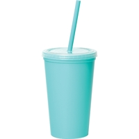 Miami 16oz Double-Wall Tumbler w/Straw