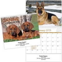 Kingswood Collection Spiral Canine Companions Wall Calendar