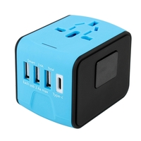 iBank®World Adapter with 3 USB Ports and 1 Type-C Port