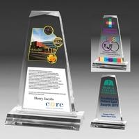"Multi-Faceted Acrylic Award - 4"" x 7 1/4"" x 3/4"""