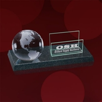 Granite Cardhioder - Clear Globe
