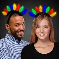 Christmas Bulb LED Mohawk Headband
