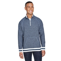 J America Adult Peppered Fleece Quarter-Zip