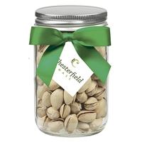 12 oz Glass Mason Jar With Pistachios