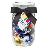 16 oz. Mason Jar w/ Grosgrain Ribbon - Lindt® Truffles
