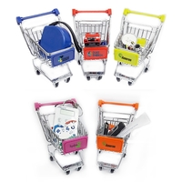 """Mini Shopping Cart 4.5"""" with Full Color logo"""