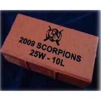 """3"""" x 3"""" - Red Clay Brick - Laser Engraved - USA-Made"""