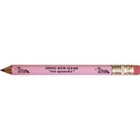 Hex golf pencil, eraser, 3 lines of custom text