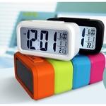 Mute temperature alarm clock